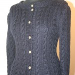 mothers cabled jacket